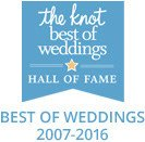 The Knot Best of Weddings Hall of Fame 2007-2016 Winner