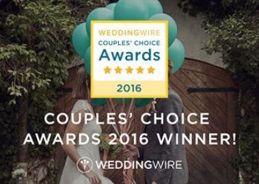 WeddingWire Couples' Choice Award 2016