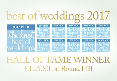 The Knot Best of Weddings 2017 FEAST at Round Hill