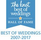 The Knot Best of Weddings Hall of Fame 2007-2017 Winner