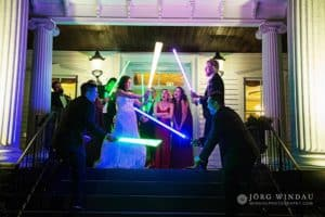 Gabby and Jeff's Star Wars Themed Wedding at FEAST at Round Hill