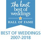 The Knot Best of Weddings Hall of Fame 2007-2018 Winner