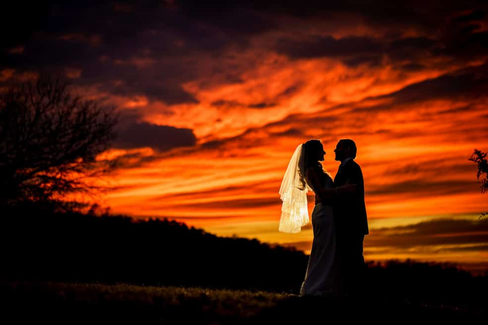 Nicole and Ben and a fiery sunset (Distilled Emotion Photography)