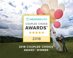 WeddingWire 2018 Couples Choice Awards Winner