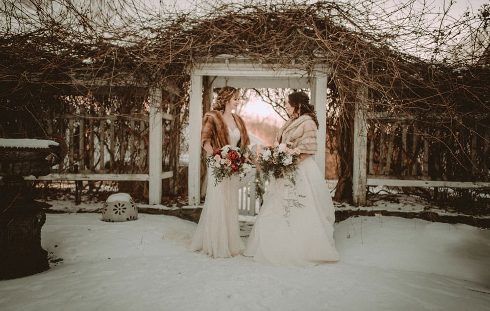 Ashlee and Cherisse's New Year's Eve Wedding in the Hudson Valley (Allison Markova)