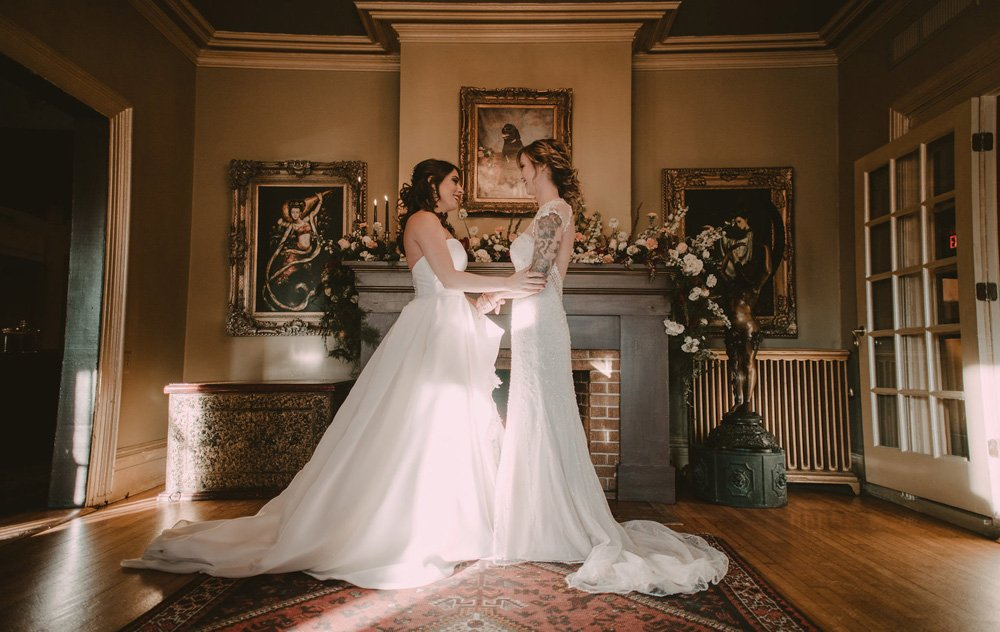 Ashlee and Cherisse New Years Wedding at FEAST at Round Hill