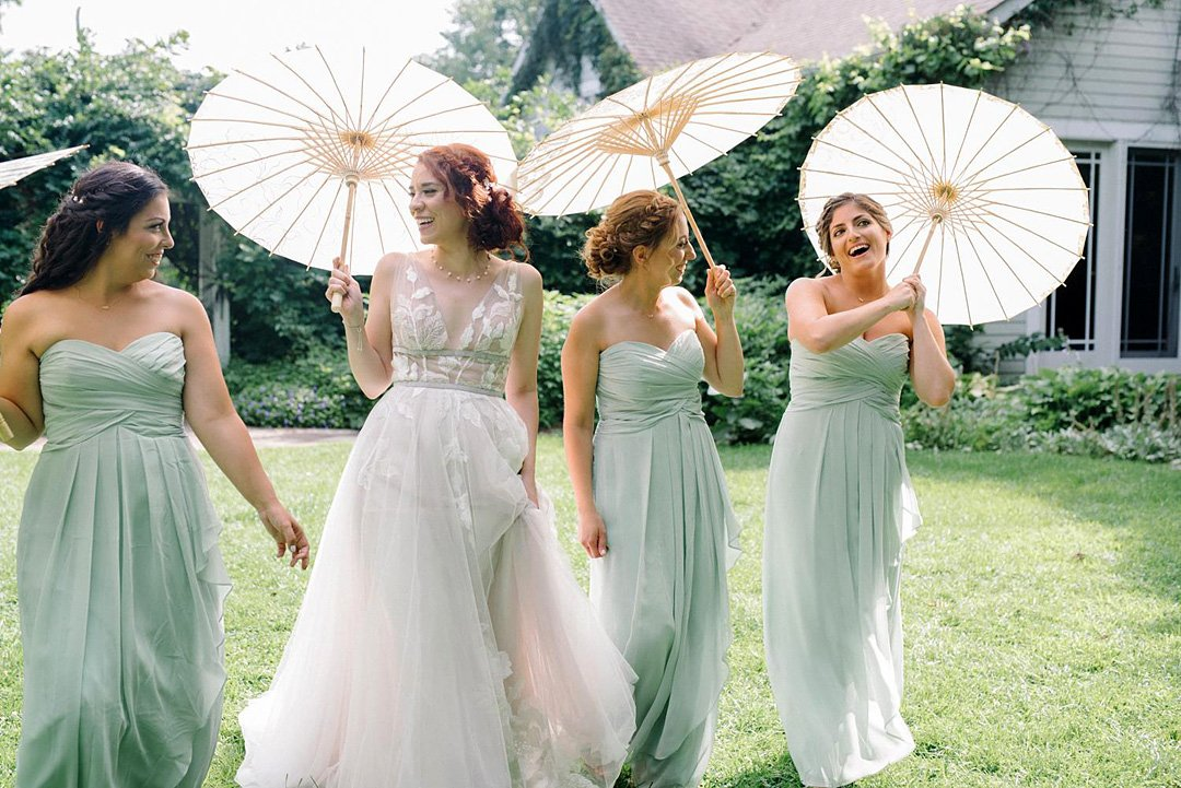Summer bridal party at FEAST at Round Hill