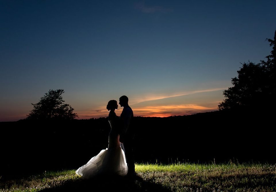 Nicole and Jon's Summer Wedding in the Hudson Valley — Sunset portrait