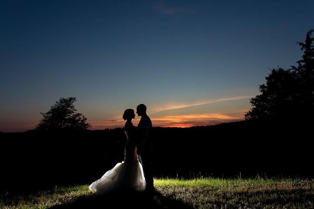 Nicole and Jon's Summer Wedding in the Hudson Valley — Sunset portrait