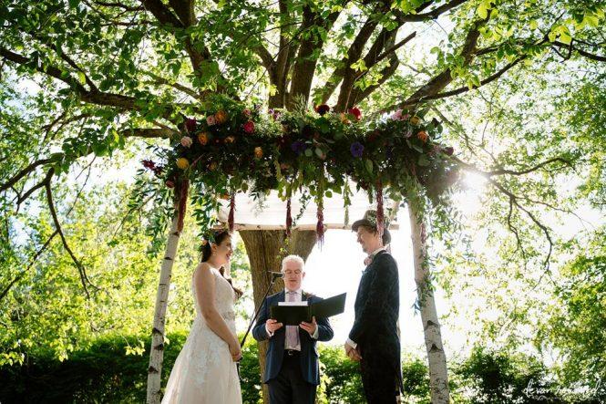 Emily and John's Summer Summer Wedding Ceremony