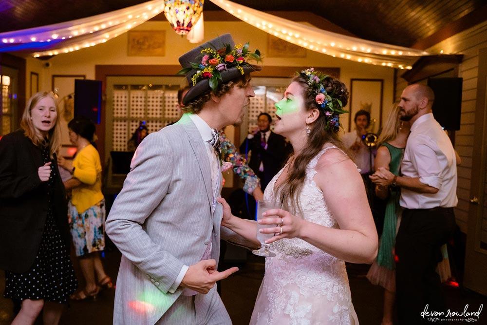 Emily and John Dancing in the Atrium