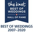 The Knot Best of Weddings Hall of Fame 2007-2019 Winner