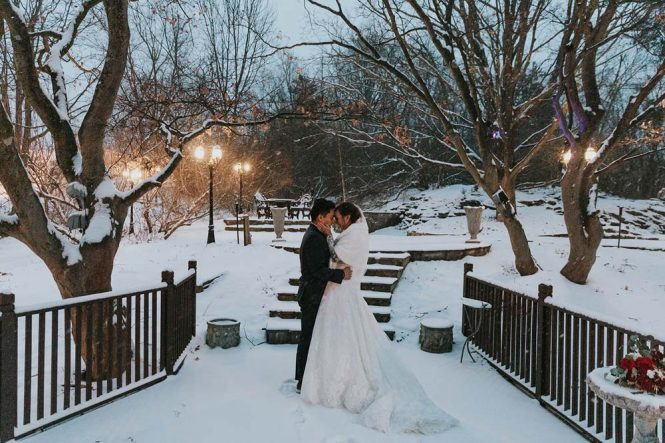 Catherine and Alan's Winter Wedding Portraits (Natalia Wajda Photography)