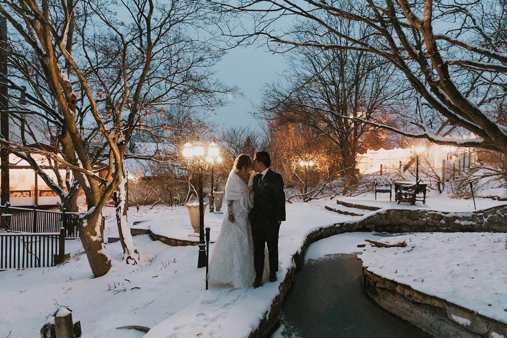 Catherine and Alan's Winter Wedding Portraits