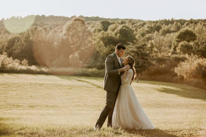 Kristen and Mick's Fall Wedding by BLV Photography