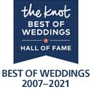 The Knot Best of Weddings Hall of Fame 2007-2021 Winner