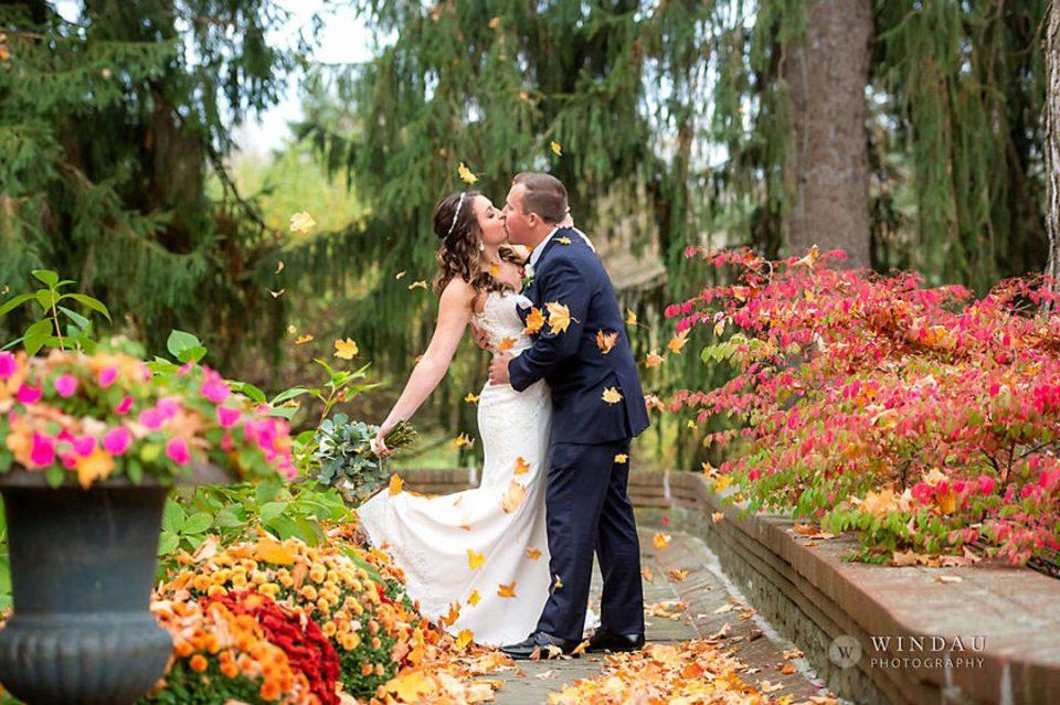 Alissa and Rob Fall Wedding by Windau Photography